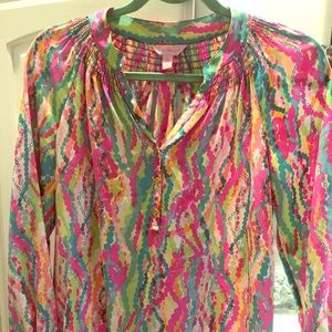 "Lilly Pulitzer XS Elsa blouse in ""Drippin Jewels"""